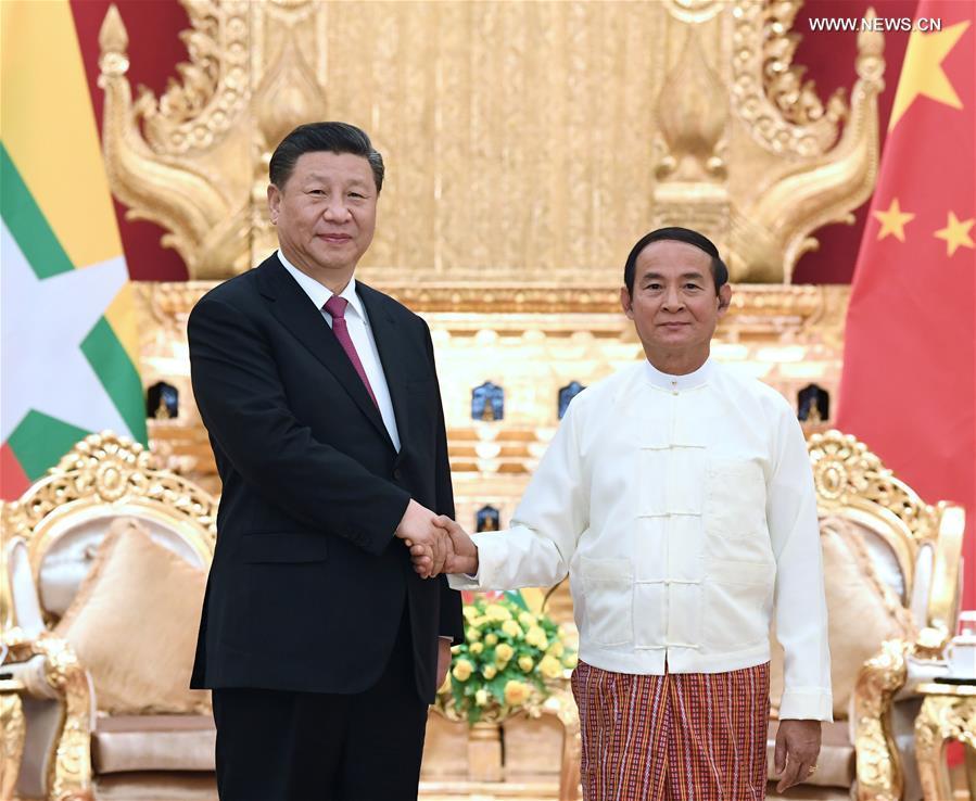 عاجل- شي يؤكد أهمية الصداقة بين الصين وميانمار .jpg
