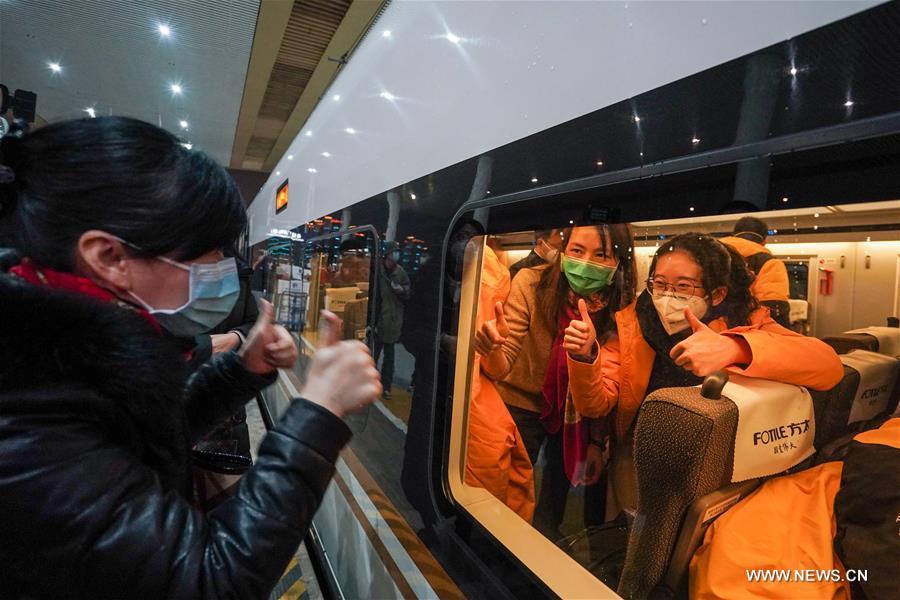 مقاطعة جيانغسو ترسل فريقا طبيا إلى ووهان .jpg