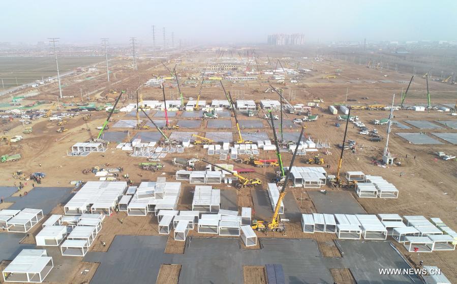شيجياتشوانغ تسرع في بناء مركز عزل للأشخاص المخالطين للمصابين بكوفيد-19 .jpg